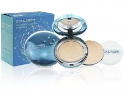 Пудра двойная COLLAGEN PREMIUM HYDRO 13g  тон 21
