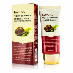 Восстанавливающий ВВ крем с экстрактом улитки FarmStay Visible Difference Snail BВ Cream 50ml