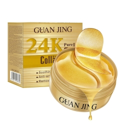 Гидрогелевые патчи Guanjing 24K Pure Gold Collagen c с коллагеном 60 шт