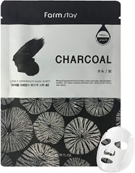 FarmStay маска тканевая с углем FarmStay Visible Difference Mask Sheet Charcoal