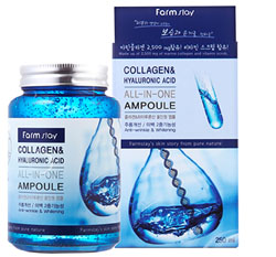 Сыворотка для лица Farmstay Collagen & Hyaluronic Acid All-In One Ampoule